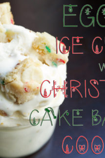 Eggnog Ice Cream with Christmas Cake Batter Cookies Recipe