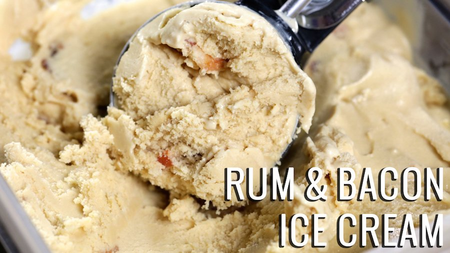Rum and Bacon Ice Cream