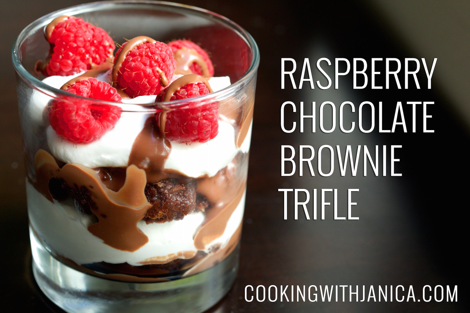 Raspberry Chocolate Brownie Trifle Recipe
