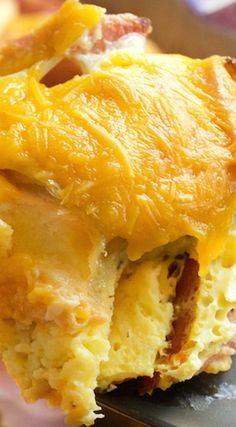Breakfast Ham & Cheese Croissant Casserole. Our most delicious breakfast recipe.
