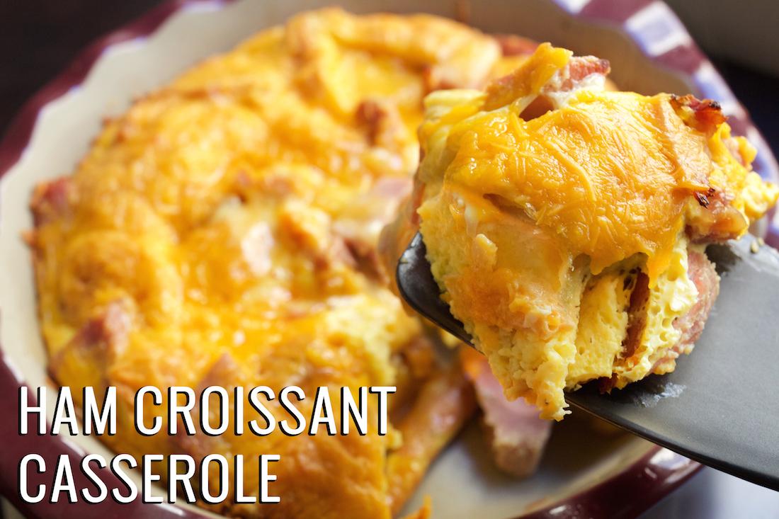 Ham Croissant Breakfast Casserole Recipe