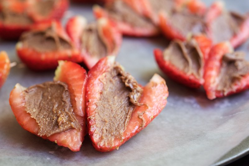 Chocoalte Covered Reese's Strawberry Hearts Recipe