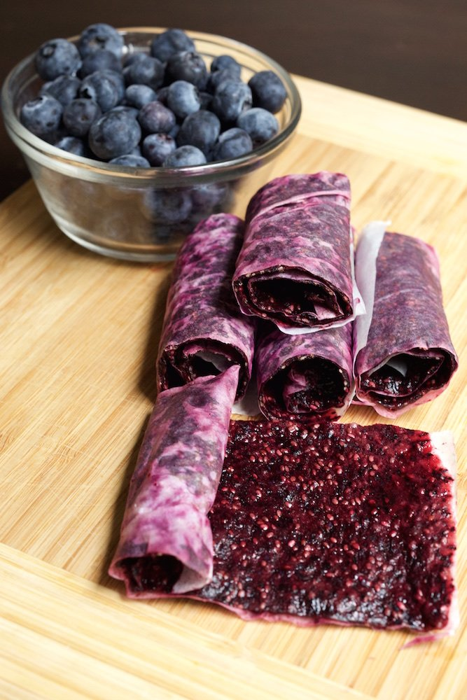 Blueberry Chia Seed Fruit Roll Ups Fruit Roll Up Recipes