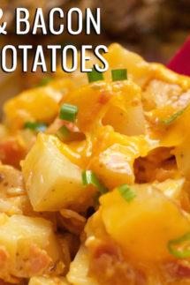 Crock Pot Cheese & Bacon Ranch Potatoes Recipe