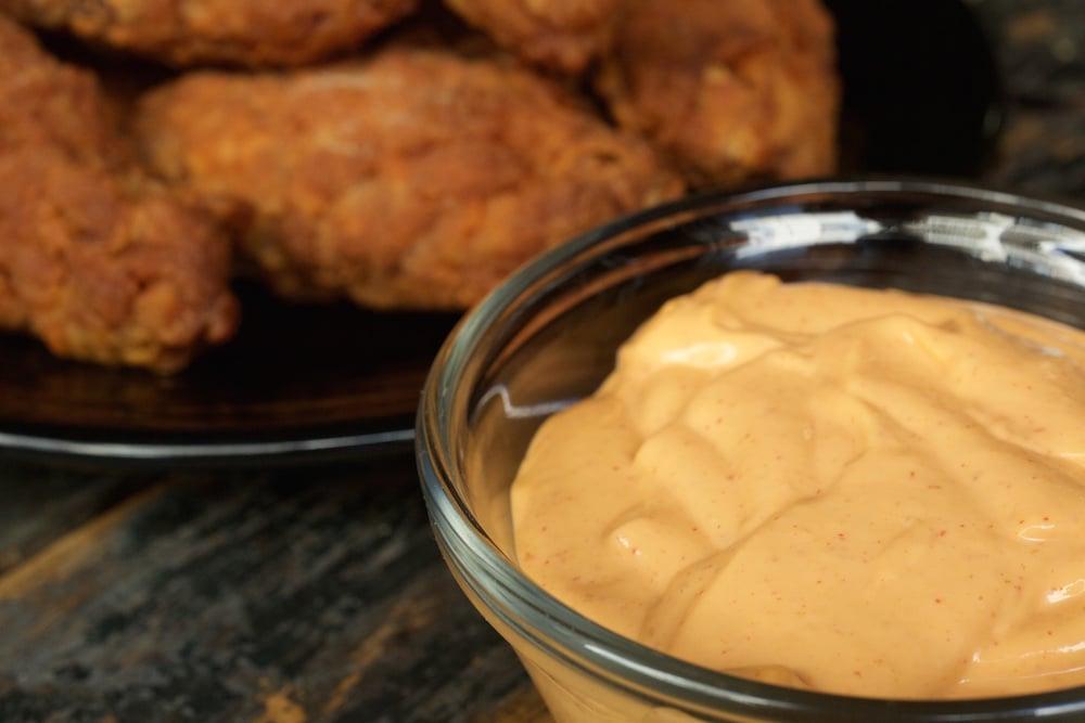 Deep Fried Buttermilk Wings & Sriracha Dipping Sauce
