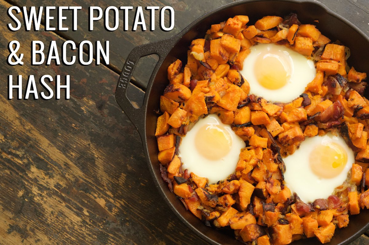 Sweet Potato & Bacon Hash Recipe