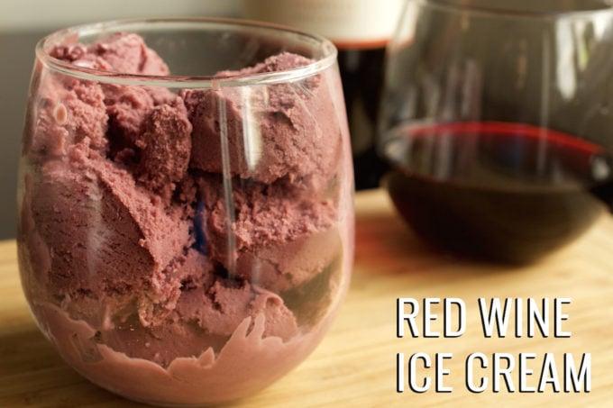 Red Wine Ice Cream Recipe
