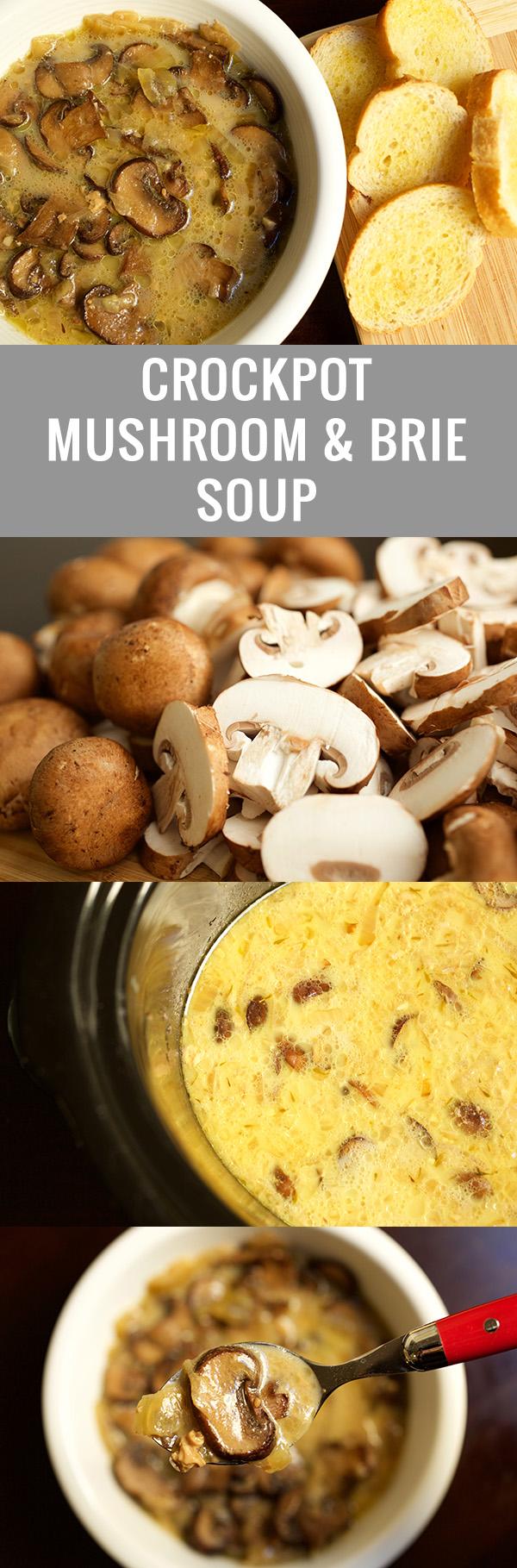 Crock Pot Mushroom & Brie Soup