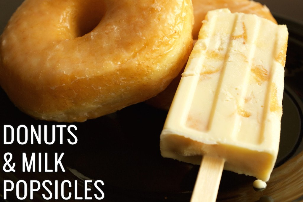 Donuts & Milk Popsicles Recipe