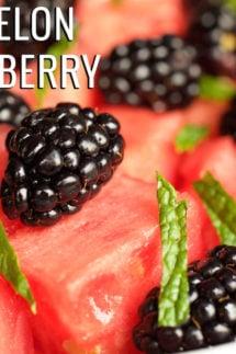Watermelon & Blackberry Fruit Salad Recipe