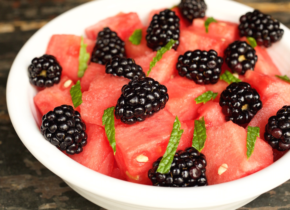 Watermelon & Blackberry Fruit Salad