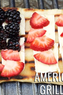 American Flag Grilled Fruit Pizza Recipe