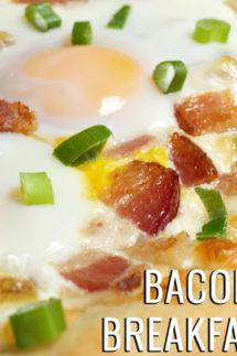 Bacon & Eggs Breakfast Pizza Recipe