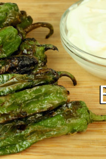 Blistered Shishito Peppers Recipe (with Whipped Lemon Goat Cheese)
