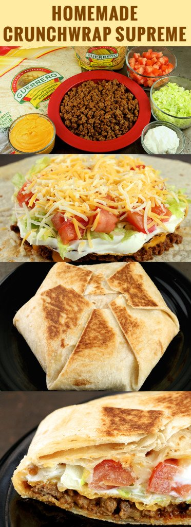 Homemade Crunchwrap Supreme Recipe - Taco Bell Recipe