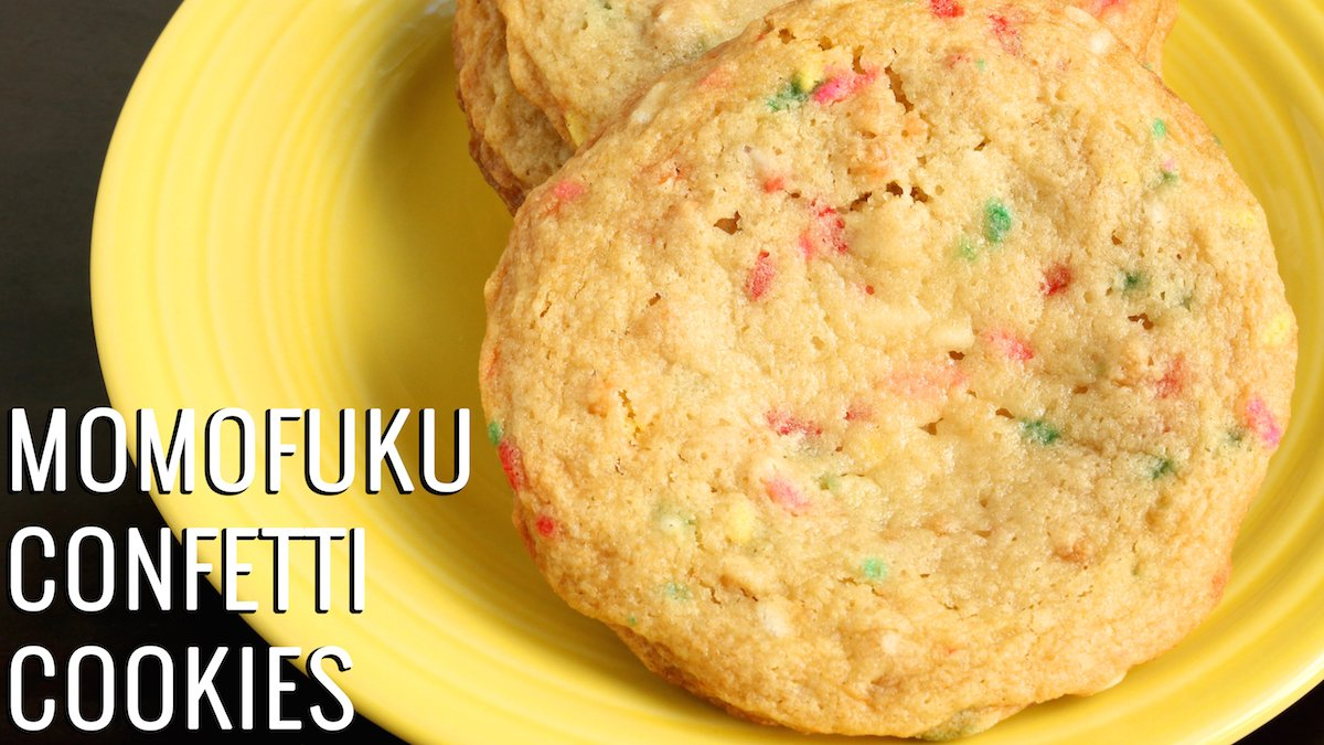 Momofuku Milk Bar Confetti Cookies Recipe Cookie Recipes