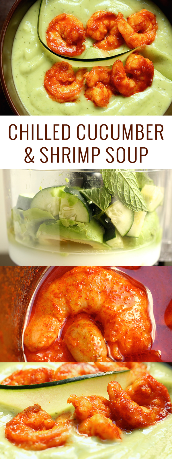 Chilled Cucumber & Shrimp Soup