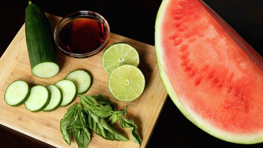 Cucumber Watermelon Basil Cooler Ingredients