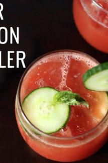 Cucumber Watermelon Basil Cooler Recipe