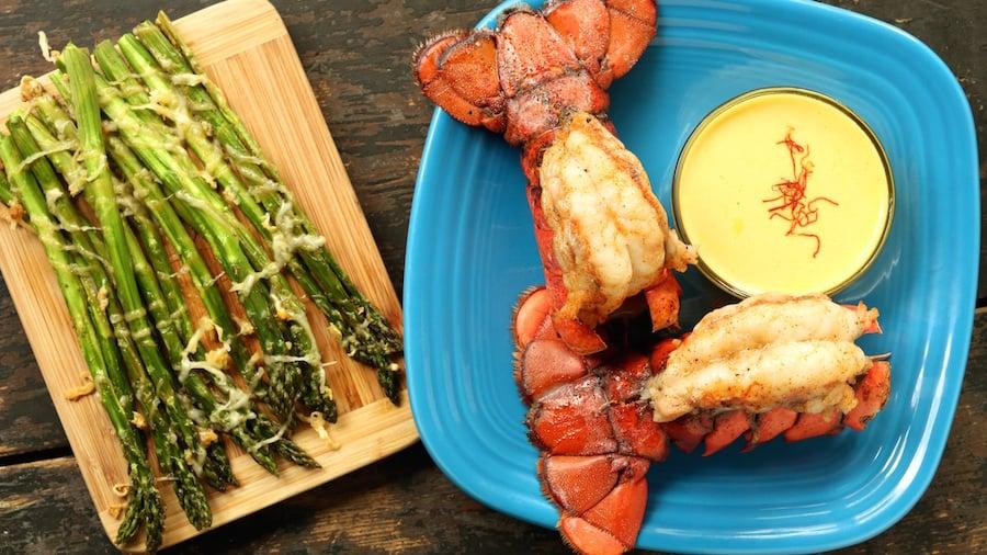 Lobster Tails with Lemon Saffron Aioli