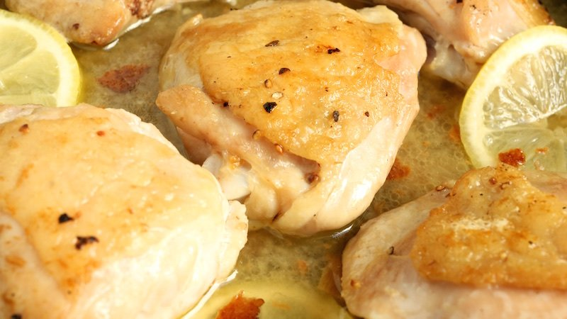 Pan Fried Chicken Thighs with Lemon Cream Sauce Recipe