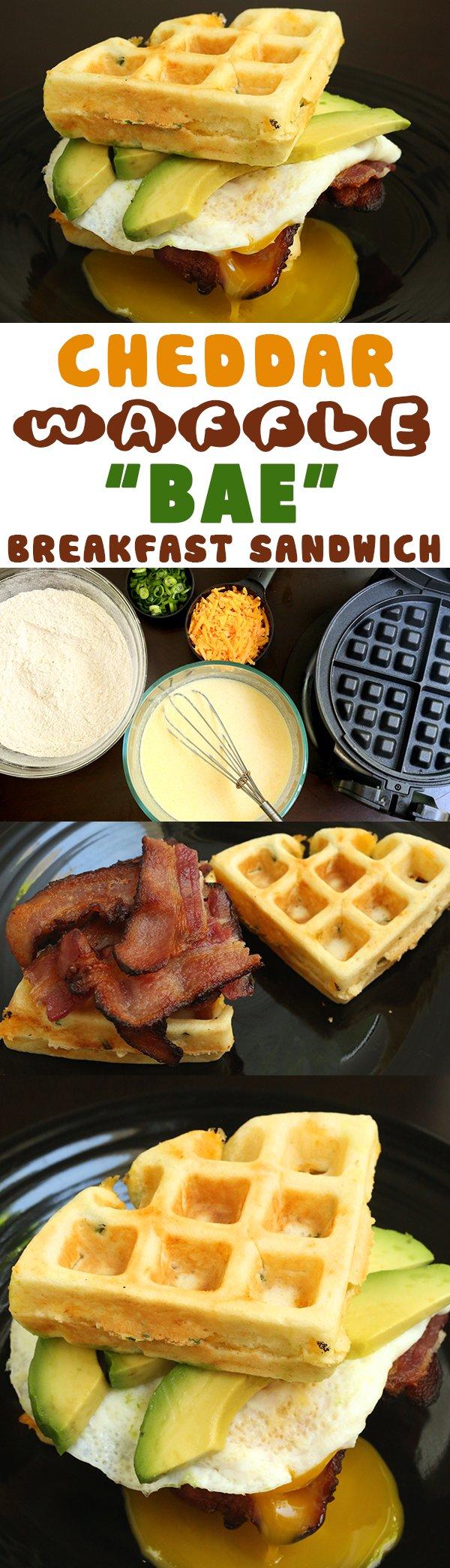 Cheddar Waffle BAE Breakfast Sandwich