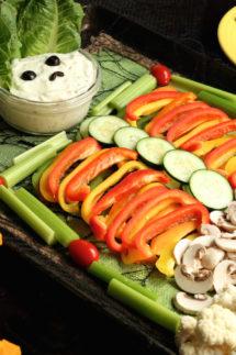 Halloween Veggie Tray Appetizer Trio Recipe