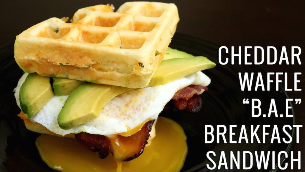 Cheddar Waffle BAE Breakfast Sandwich Recipe
