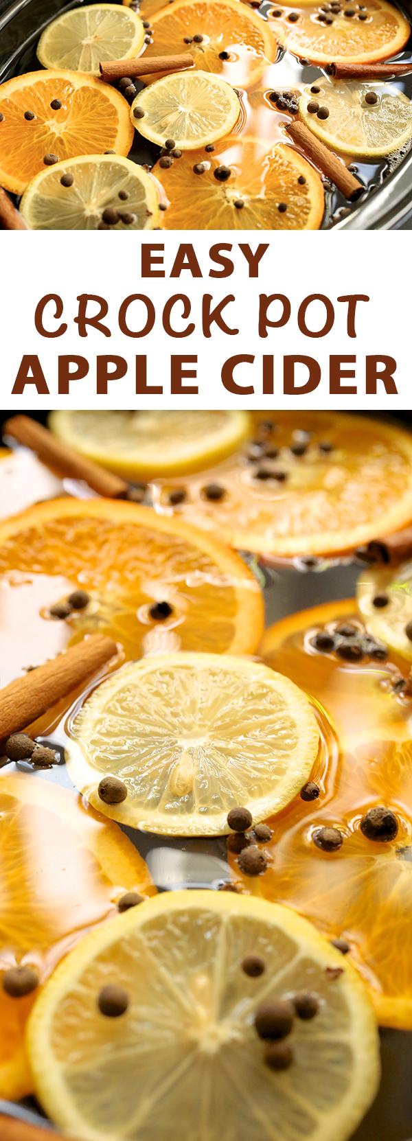 Easy Crock Pot Apple Cider