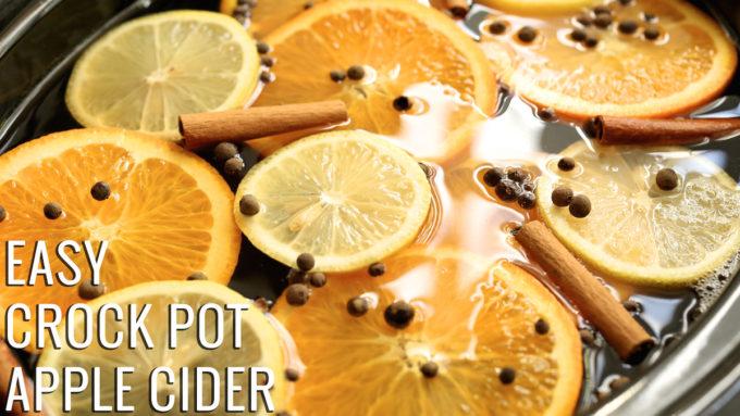 Easy Crock Pot Apple Cider Recipe