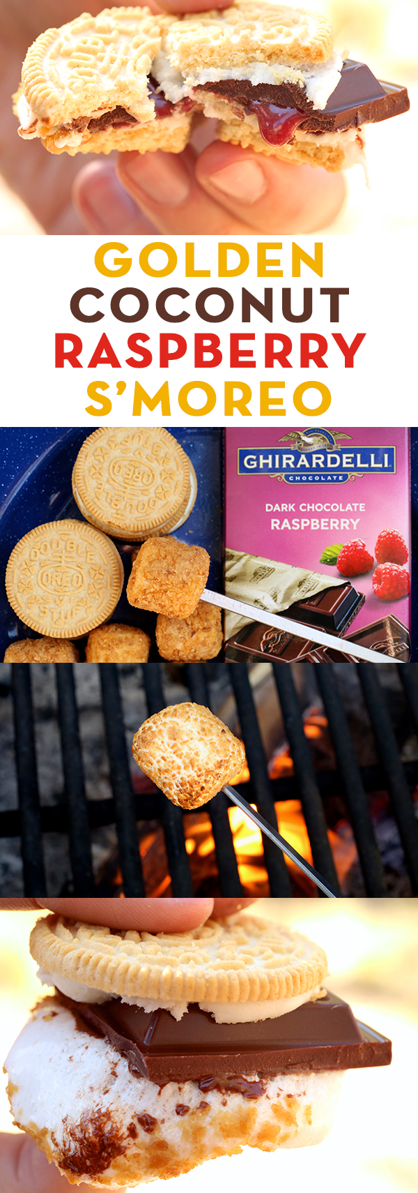 Golden Coconut Raspberry S'moreo Recipe