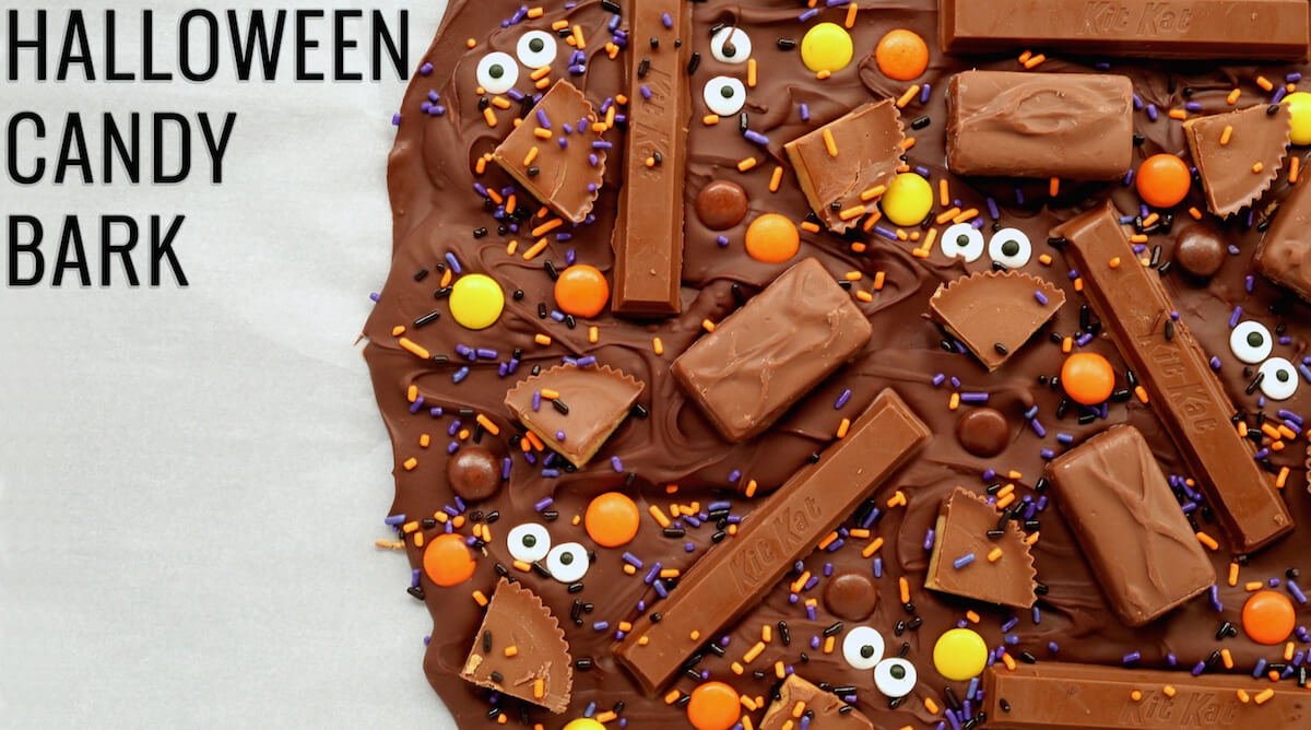 Halloween Candy Bark Recipe Halloween Recipes