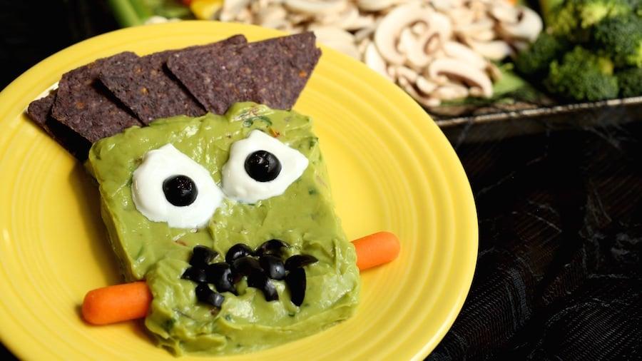 Halloween Frankenstein Guacamole