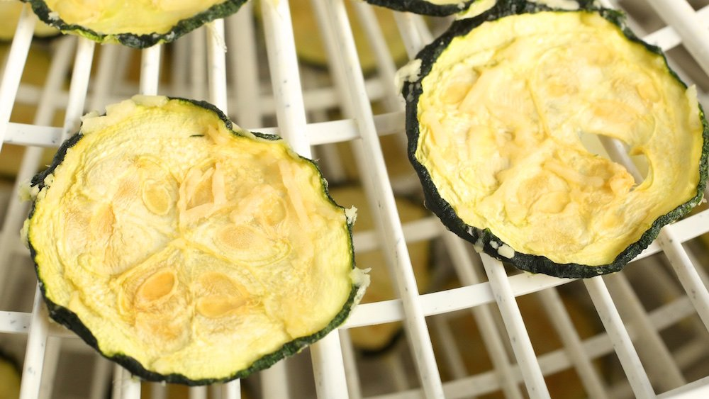 Parmesan Zucchini Chips in the Dehydrator