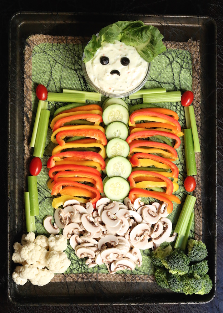 skeleton veggie tray