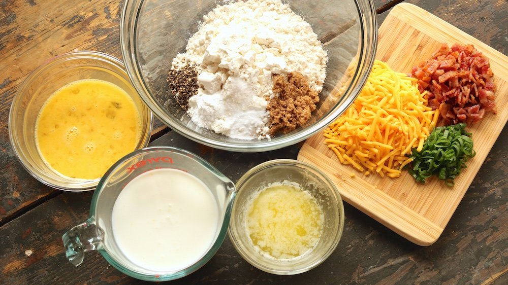 Bacon Cheddar Waffle Ingredients