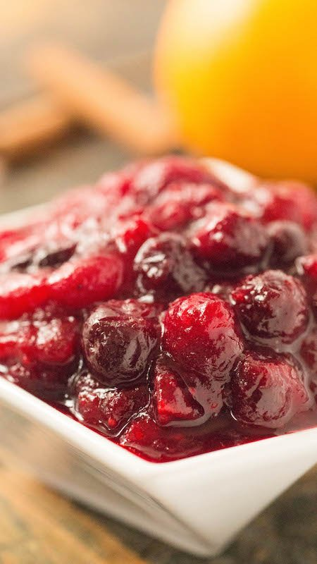 Homemade Holiday Cranberry Compote Sauce - Cranberry Sauce Recipe