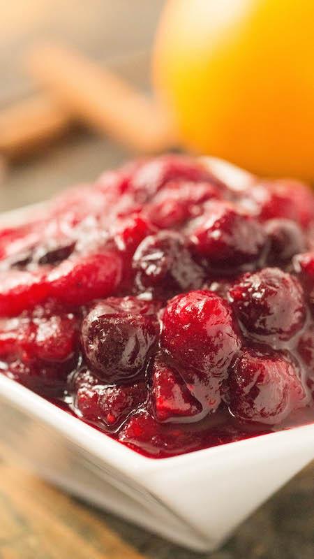 Homemade Holiday Cranberry Compote Sauce - Cranberry Sauce Recipe