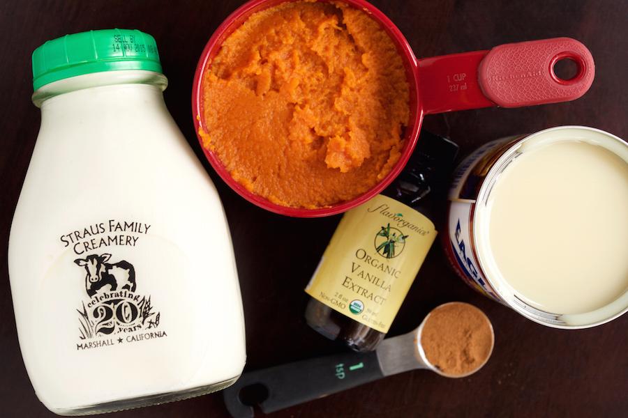 Pumpkin Pie Ice Cream Sundae Ingredients