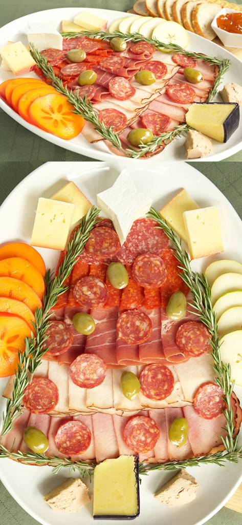 Christmas Tree Charcuterie Tray - Christmas Cheese & Meat Platter Recipe