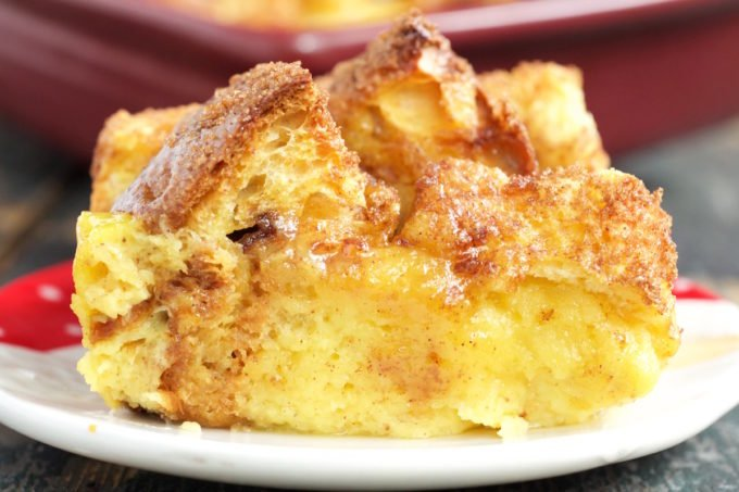 Eggnog French Toast Bake with Panettone and Brioche