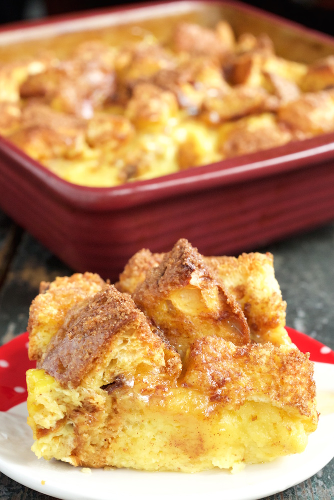 Eggnog French Toast Bake with Panettone & Brioche