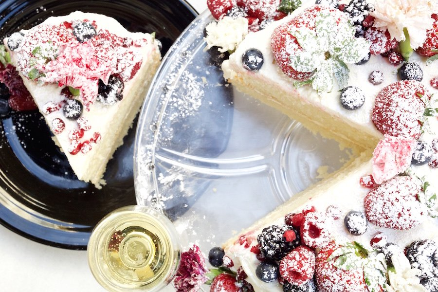 Naked Champagne Cake