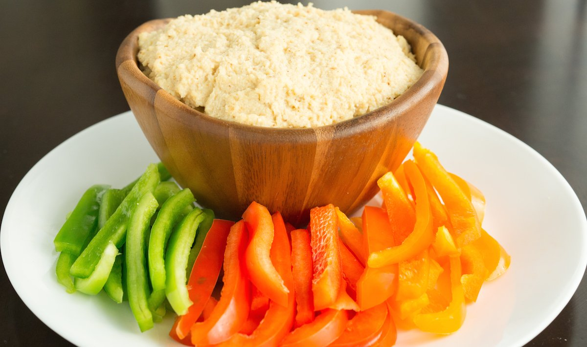 Roasted Garlic & Cauliflower Hummus Recipe