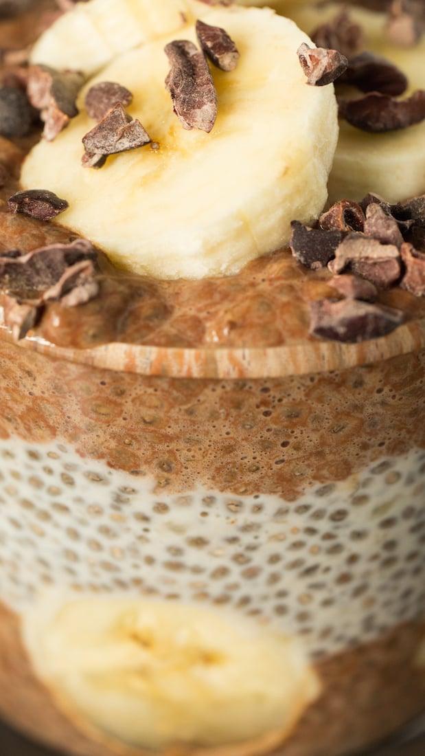 Cacao Banana Chia Seed Pudding