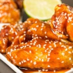 Fried Honey Sriracha Lime Wings Recipe