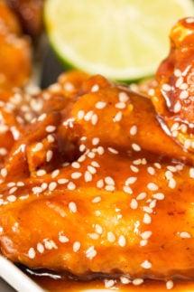 Fried Honey Sriracha Lime Wings Recipe