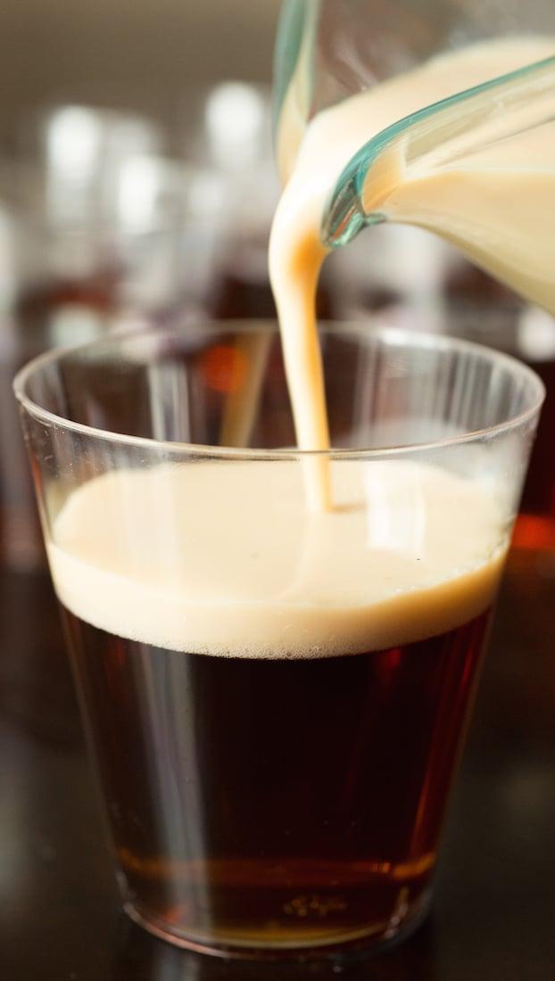 How to make Irish Car Bomb Jello Shots using Guinness and Bailey's Irish Cream.