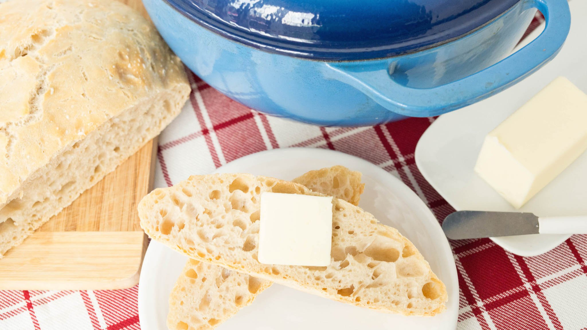 Quick & easy bread baked inside a dutch oven. Just 4 ingredients!