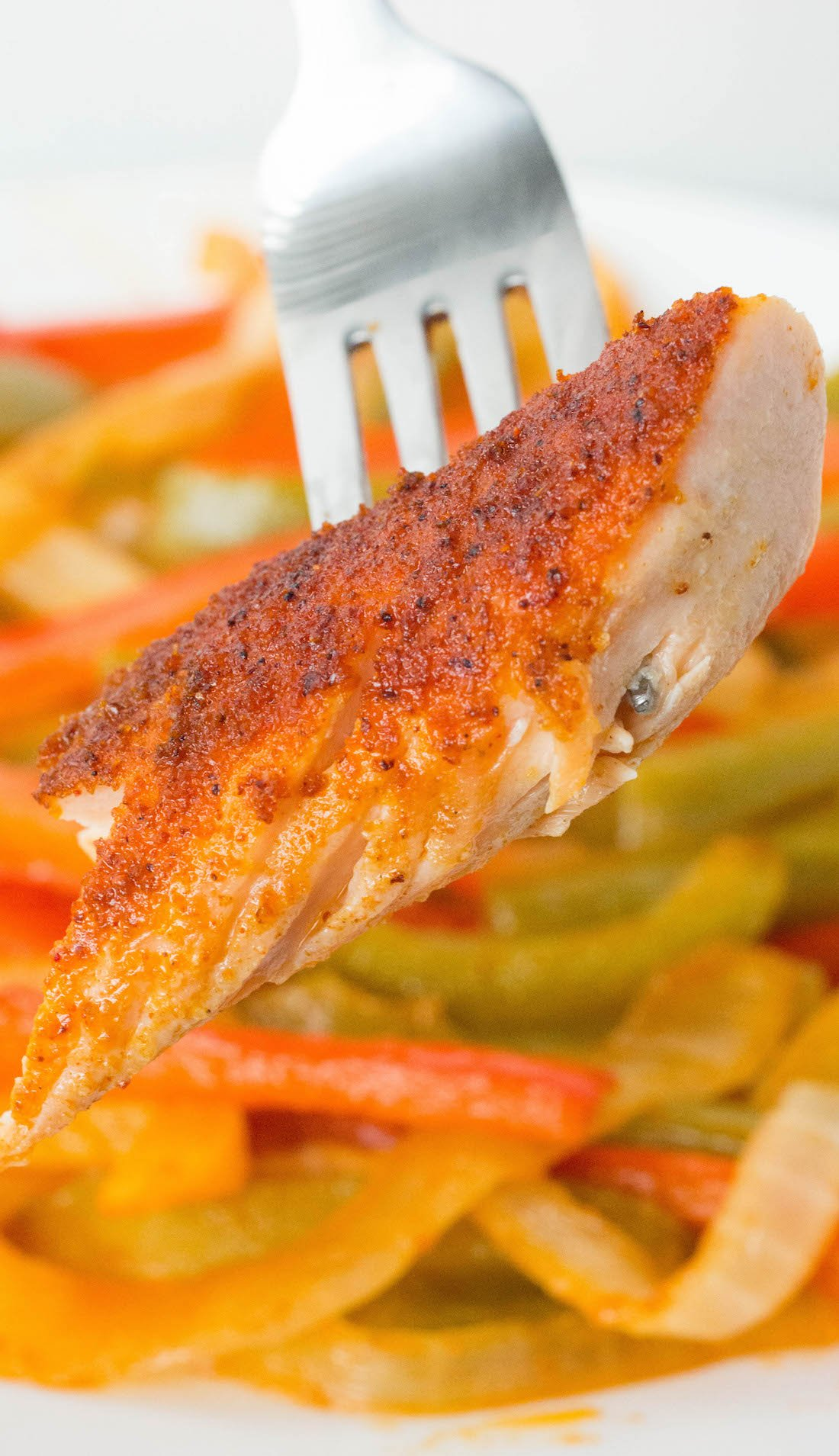 Easy One Pan Fajita Salmon with Peppers & Onions Recipe